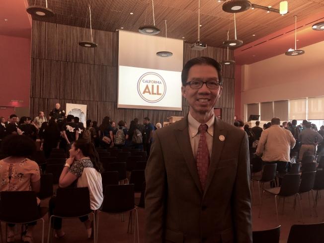代表聖蓋博谷的加州眾議員周本立(Ed Chau)。(記者王若然/攝影)
