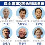 民主黨第3回合政見辯論9/12登場 10人入選  12人旁觀