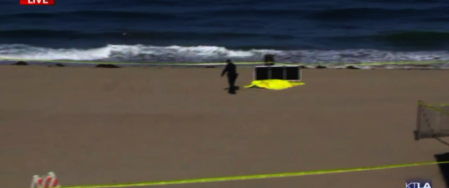 托倫斯海灘發現兩具屍體。(圖:KTLA截圖)
