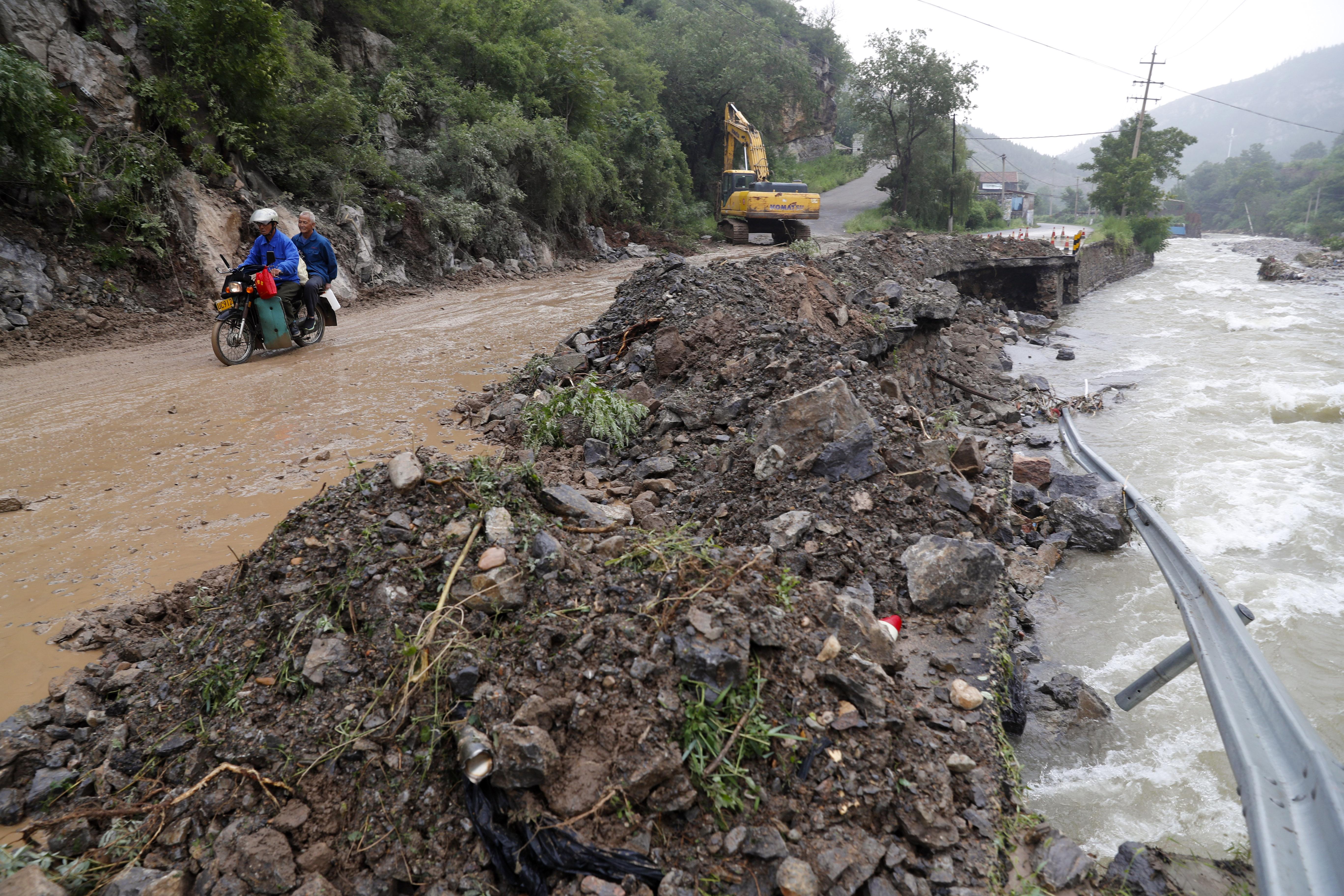 超強颱風「利奇馬」在山東造成災情。(中新社)