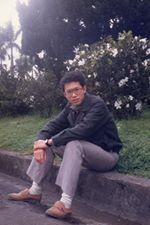 桃園市長鄭文燦年輕照片。(取自臉書)