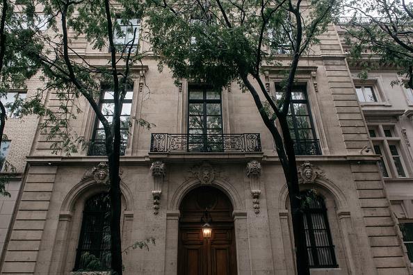 艾普斯坦在紐約曼哈頓的豪宅。(Getty Images)