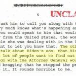 通話紀錄公布 川普確實敦促烏國聯手司法部長巴維理 調查白登兒子