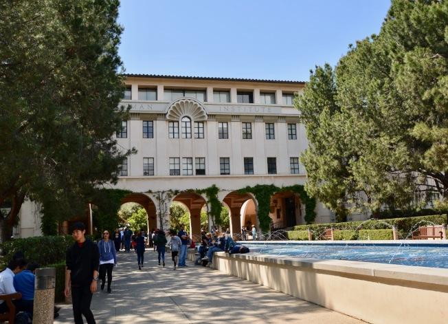 加州理工學院著名的Beckman科學大樓(記者丁曙/攝影)