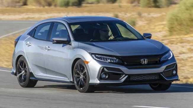 2020年式美規Civic五門掀背車型的外觀進行小幅微整型。(Honda)
