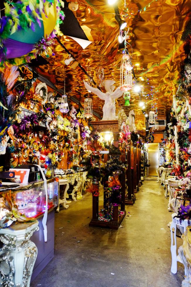 紐奧良的面具店。
