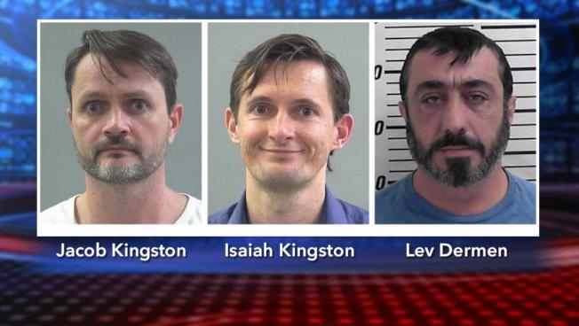報稅詐欺案被告金斯頓(左起)、金斯頓弟弟、德爾曼。(檢方提供)