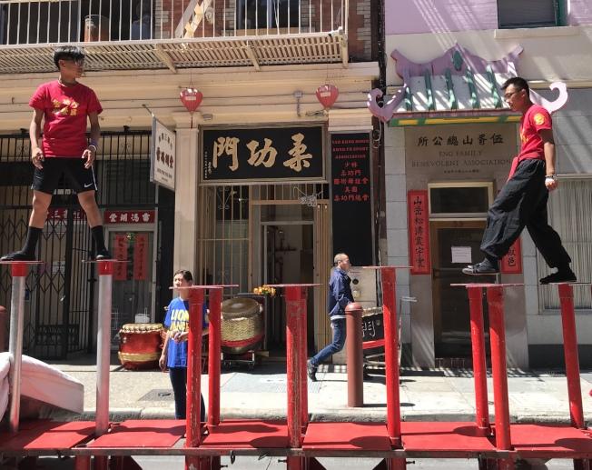 柔功門總會設在華埠天后廟街,也是弟子練武之地。(記者李秀蘭/攝影)
