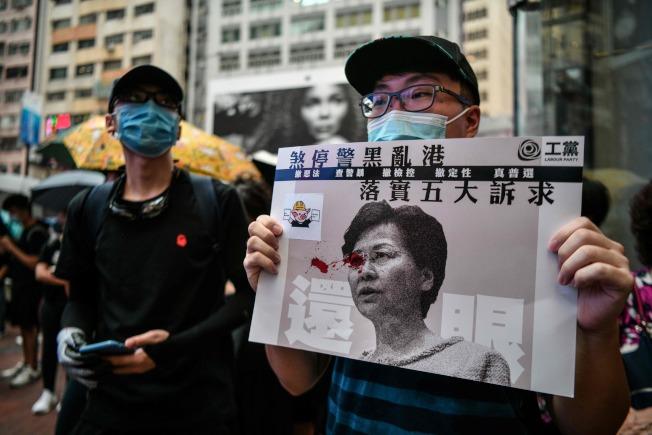 反送中示威者31日不改初心,堅持五大訴求,缺一不可。(Getty Images)