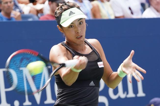 中國金花王薔1日在美網公開賽女單比賽中,爆冷完勝第二號種子巴蒂,進入大滿貫八強。(特約記者許振輝╱攝影)
