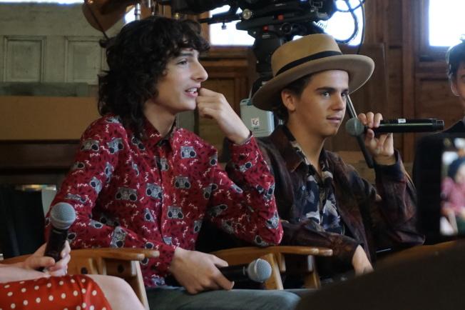 兩年來,芬恩沃夫哈德(左)與傑克迪倫格雷澤已成好萊塢炙手可熱的新生代演員。(記者馬雲/攝影)