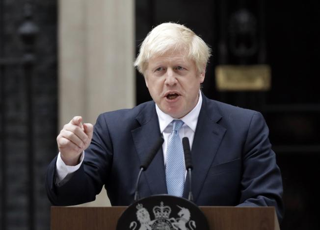 英國首相強生。(美聯社)