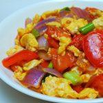 料理功夫|紫洋蔥番茄炒蛋