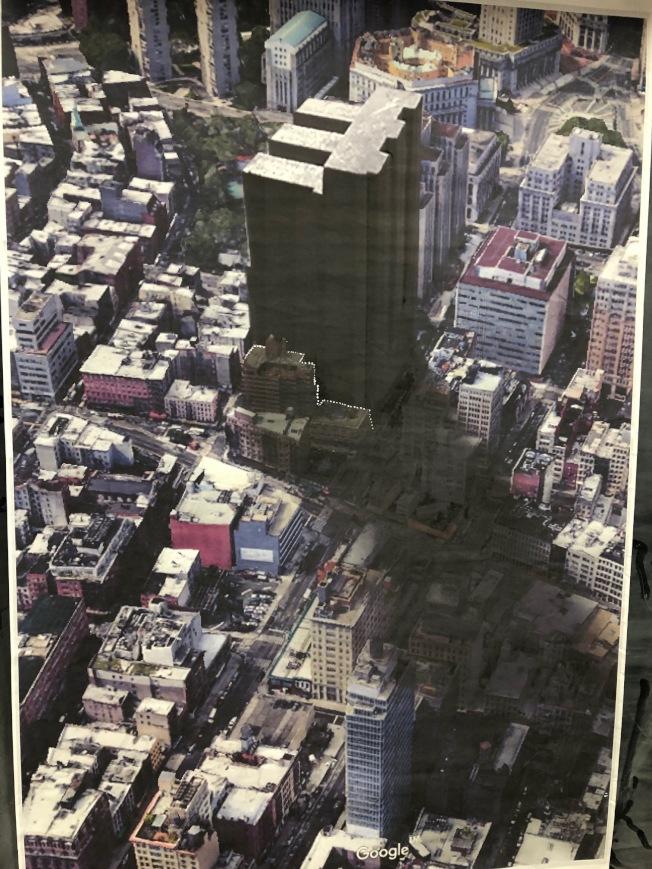 根據市都市計畫委員會公布的計畫,華埠監獄的高度將降低45呎。(本報檔案照)