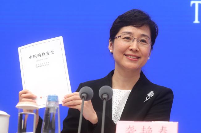 國務院新聞辦公室3日在北京發表《中國的核安全》白皮書,國務院新聞辦公室新聞發言人襲艶春介紹,中國運行核電機組47台,居世界第三;在建核電機組11台,居世界第一。 (中新社)