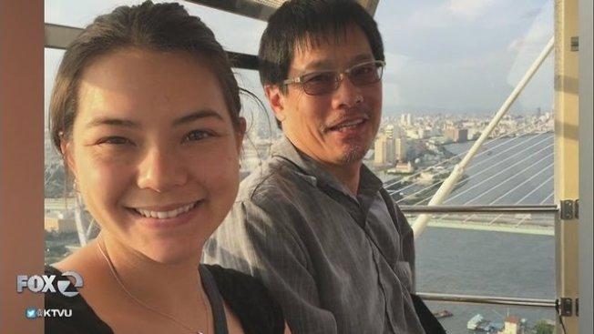 北加州位於Fremont的American高中59歲華裔物理教師陳雷蒙(Raymond  Scott Chan)和他26歲女兒Kendra Chan,Kendra Chan是聯邦魚類與野生動物服務部范杜拉分局的海洋生物學家。(Fox電視)
