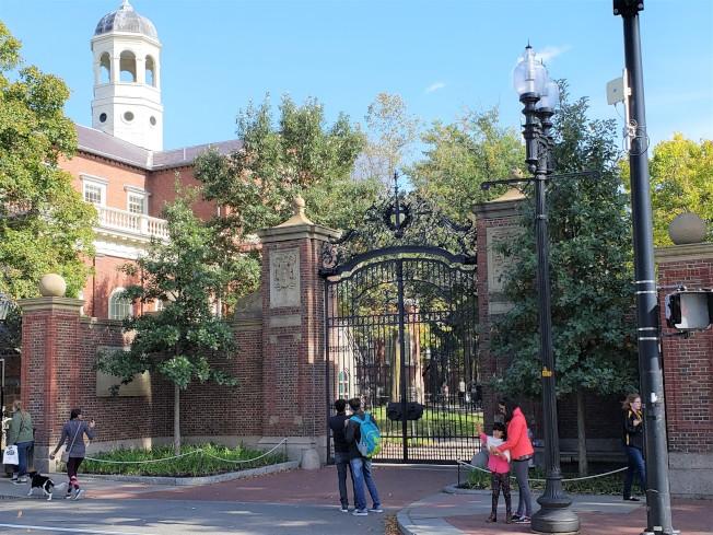 哈佛大學在最新的華爾日報「美國大學排行」中排名第一。(記者唐嘉麗/攝影)