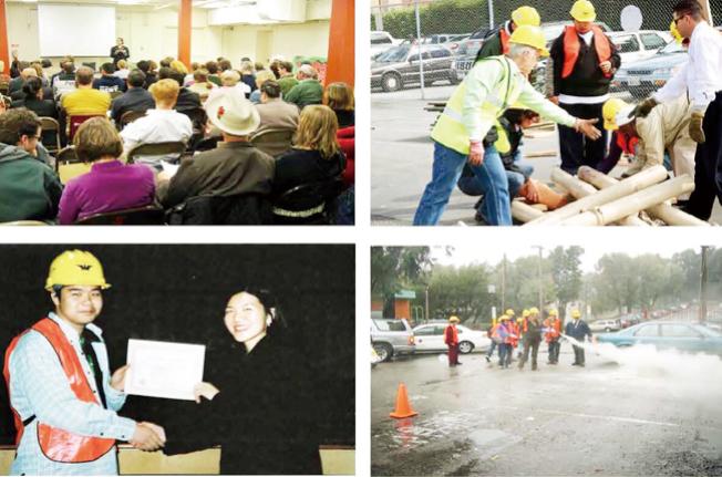 學員經過三天的救生知識培訓後可獲得證書。(圖片由舊金山消防局及華人健康組織聯會提供)
