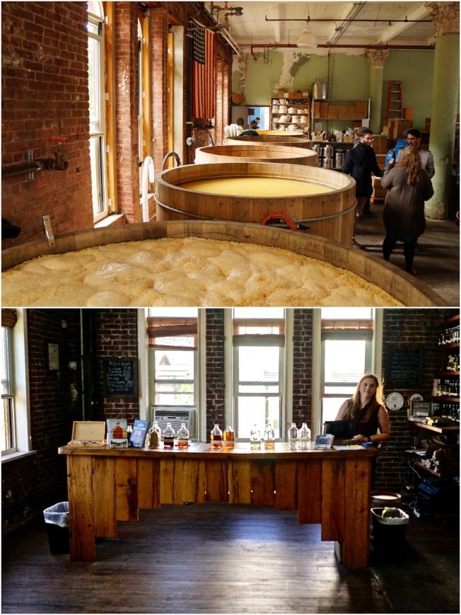參觀酒廠開放式的發酵槽,以及多種酒類試飲,都是值得來Kings County Distillery參觀的因素之一。