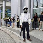 銀髮族邀林鄭對話 學生「聯校人鏈」示威