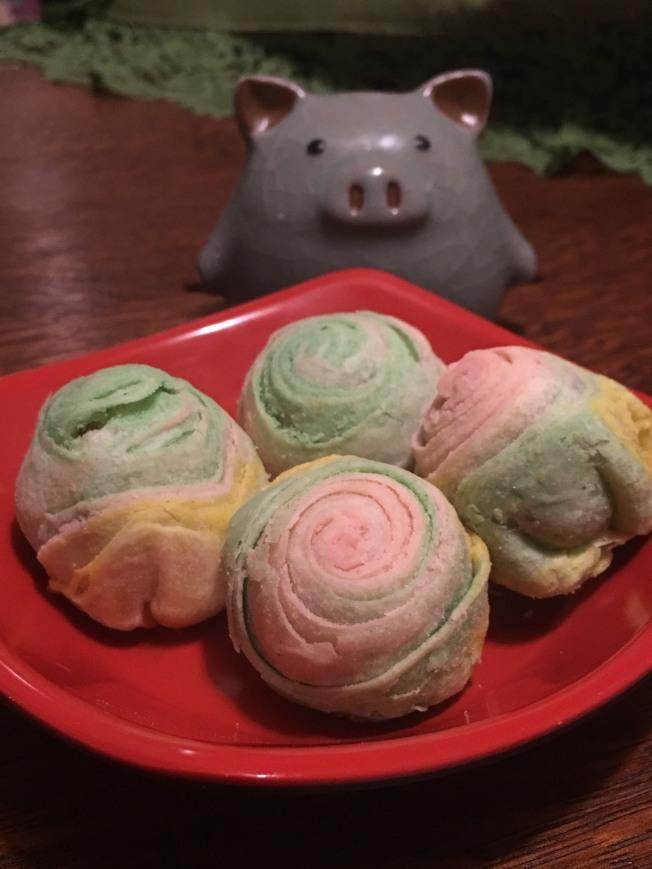 彩虹酥月餅