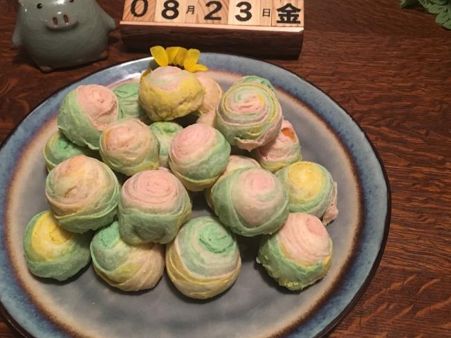 彩虹酥月餅2