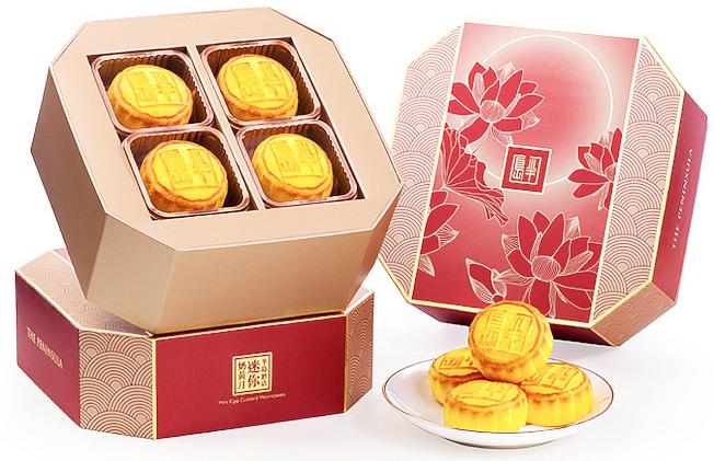 知名的香港半島迷你奶黃月餅,今年通過位於比佛利山的半島酒店首次在美出售。(官網)