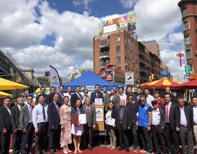 第六屆中秋賞月漫遊節在華埠舉辦。(記者金春香/攝影)