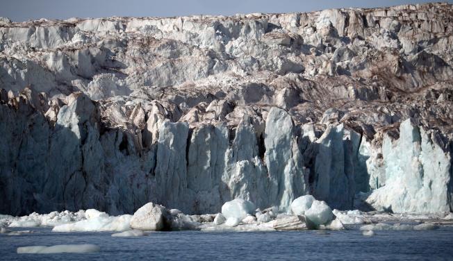 瑞典最高峰因氣候暖化而改變。圖為冰川示意圖。(路透)