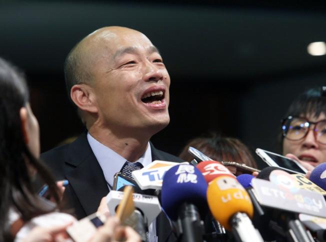 高雄市長韓國瑜。(記者劉學聖/攝影)