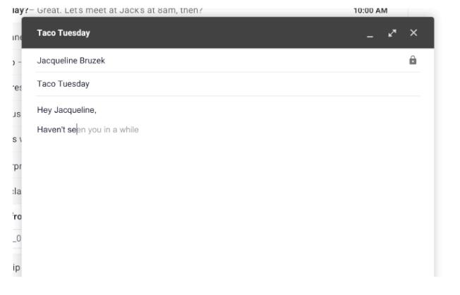 Gmail的智慧撰寫功能。(圖/Google官方部落格)