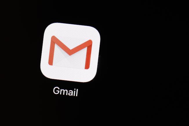 Gmail應用程式。(美聯社)