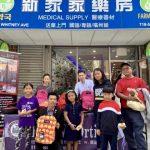 奧迪茲聯合華人商家 向社區兒童免費發放書包