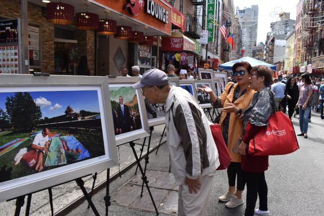 今年的活动还同时举办图片展,记录中美两国建国来的友好关系。(记者颜嘉莹/摄影)