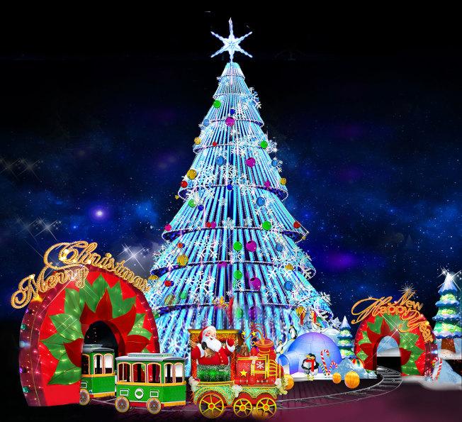 聖誕樹彩燈。(主辦方提供)