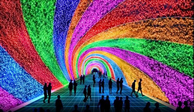 時光隧道彩燈。(主辦方提供)
