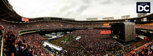 甘迺迪紀念球場是足球隊華盛頓特區聯隊(DC United)的誕生之地,也是華盛頓紅人(Redskins)三次取得超級盃冠軍的地方。(取自臉書)