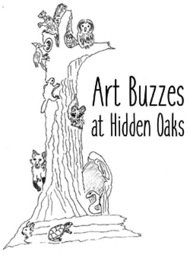 皮德爾森將古樹轉化成藝術作品。圖為作品草圖。(隱蔽橡樹自然中心提供)