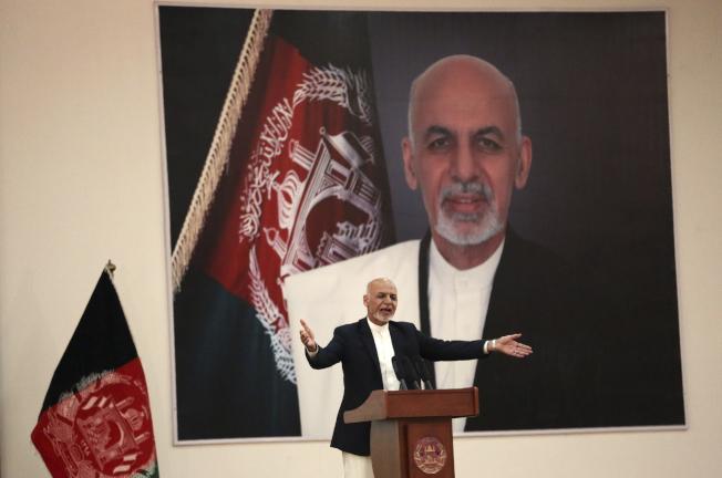阿富汗總統賈尼原定在美國和神學士代表舉行和平談判。(美聯社)