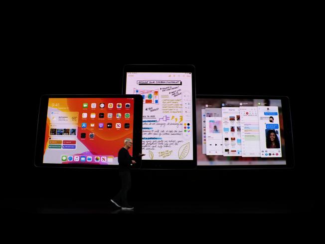 iPadOS的豐富功能,讓使用者在iPad上也有機會享受像是筆電般的檔案處理效率。(發表會截圖)