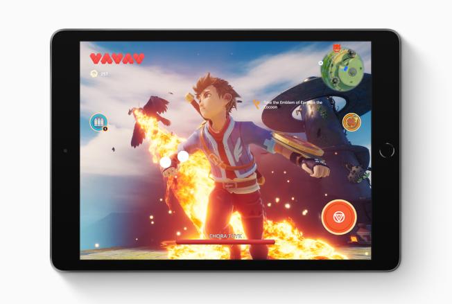 大螢幕iPad搭配即將推出的Apple Arcade,讓遊戲體驗更升級。(圖:蘋果提供)