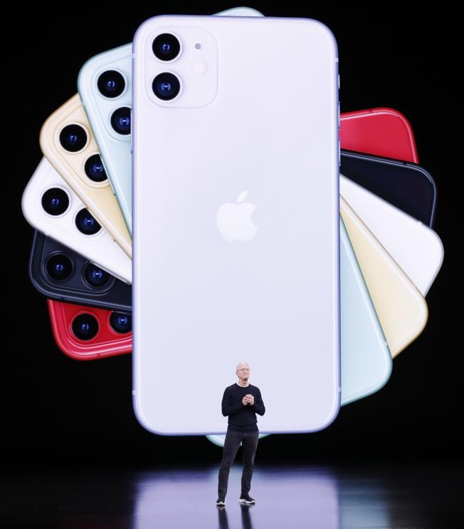 蘋果推出最新旗艦智慧手機:iPhone 11 Pro、iPhone 11 Pro Max和iPhone 11。(歐新社)