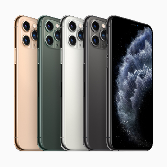iPhone 11 Pro系列這次共推出金、夜幕綠、白、太空灰四色。(圖:蘋果提供)
