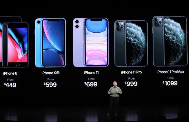 蘋果公司舉行新產品發表會,推出iPhone 11系列產品,並宣布現有的iPhone 8及iPhone X降價。(Getty Images)