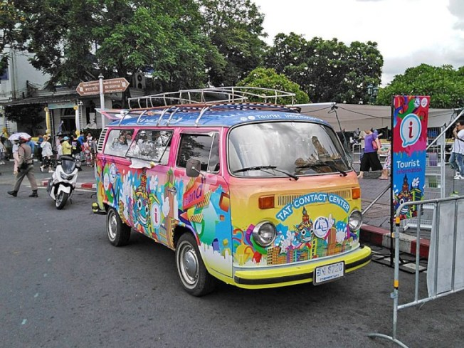 泰國觀光局移動式旅遊諮詢服務車。圖/泰國觀光局提供