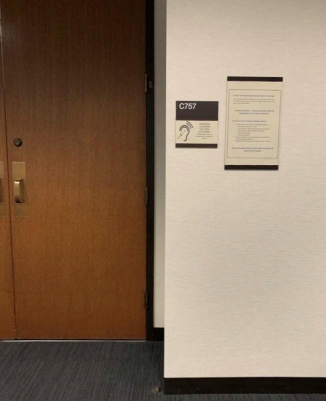 劉靜堯控告劉強東強暴的民事訴訟案,11日在尼亞波利斯757號法庭首次開庭。(周東發提供)