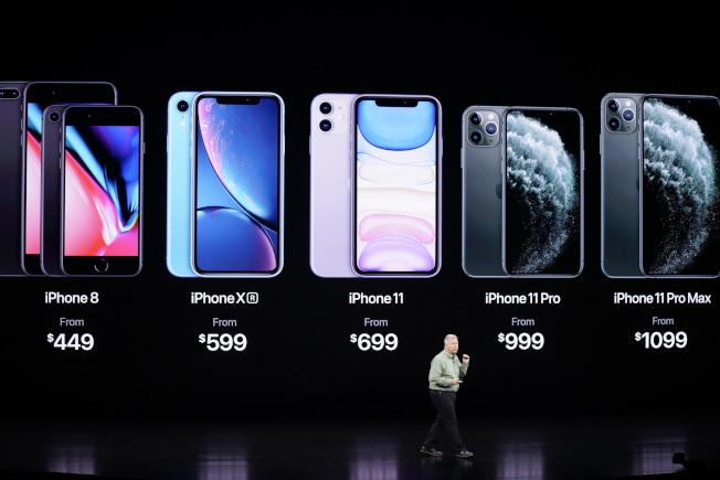 中國用戶仍須為全新iPhone 11系列支付高額溢價,可能會傷害蘋果在中國的業績。(美聯社)