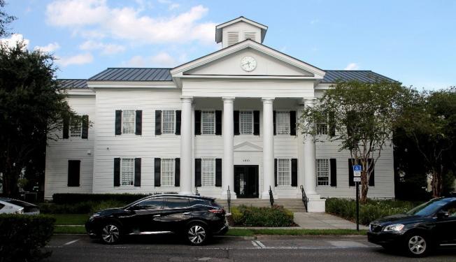 扶輪社龍社舉辦公共安全知識的會場Baldwin Park Grace Hopper Hall。(扶輪社提供)