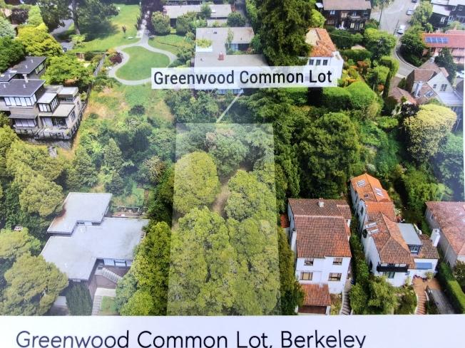 地產經紀現場的資料介紹,在售地塊特點。(記者劉先進/攝影)