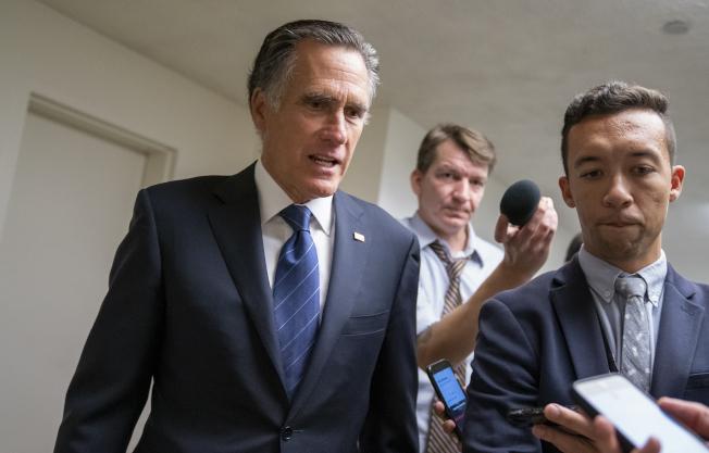共和黨重量級國會參議員羅穆尼說,波頓去職是國家的重大損失。(美聯社)
